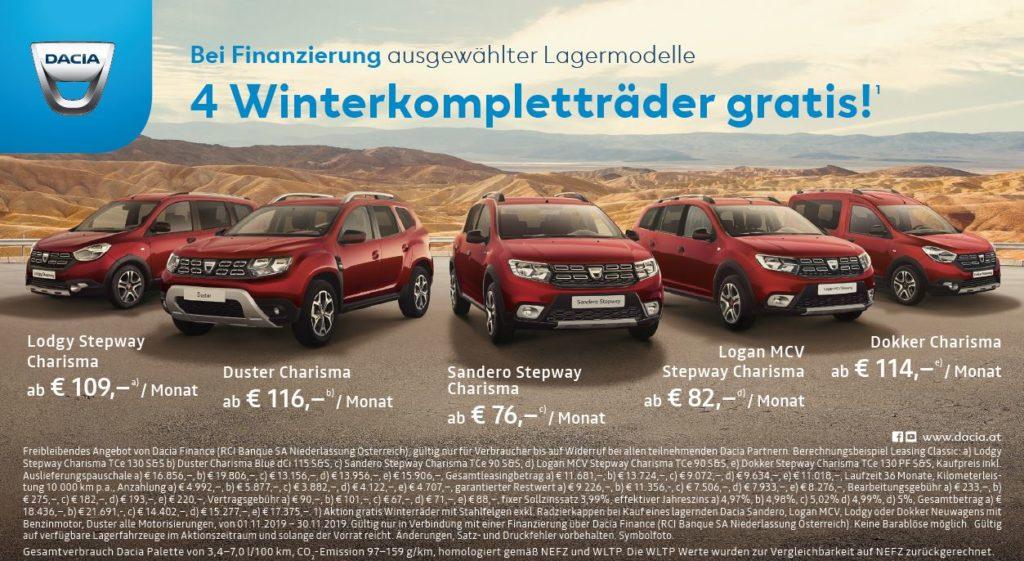 4 Winterkompletträder gratis | 50/50 Kredit mit 0% Fixzins