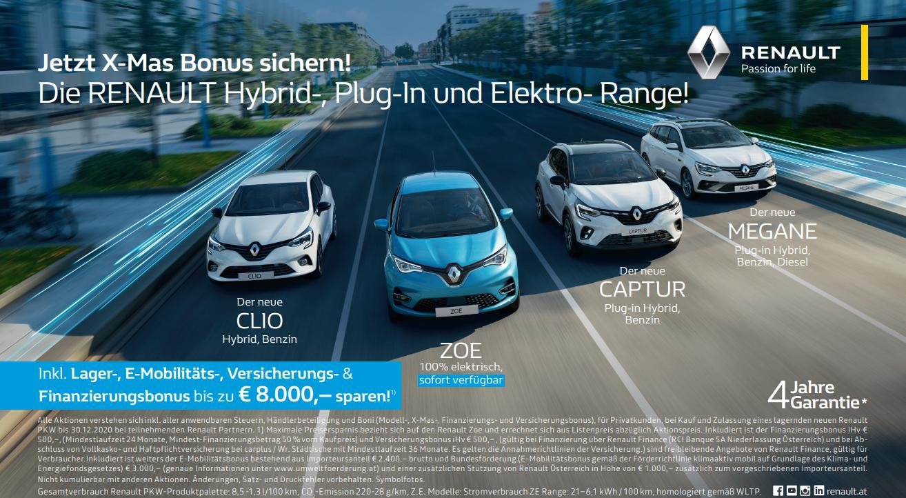 Großer X-Mas Bonus I Frühbucherbonus für E-Tech Modelle | Erhöhter E-Mobilitätsbonus l Finanzierungs- und Versicherungsbonus | 50/50 Kredit mit 0% Fixzins